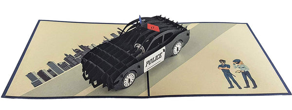 Police Car 3D Pop Up Greeting Card 6