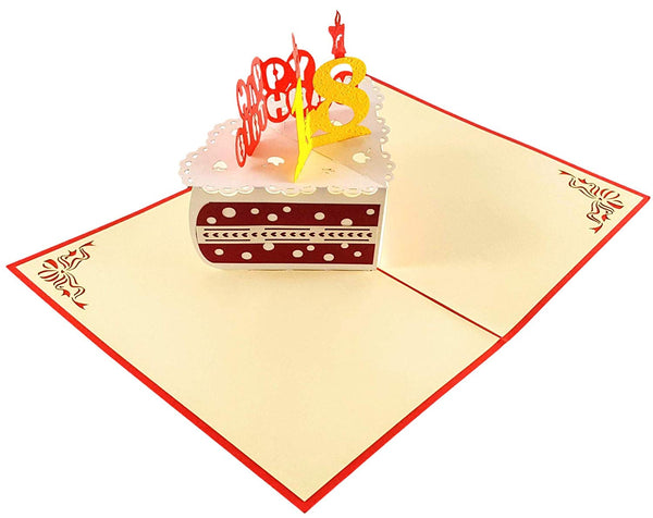Happy 18th Birthday Cake 3D Pop Up Card 5