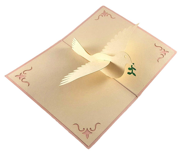 Dove With Olive Branch 3D Pop Up Greeting Card 4