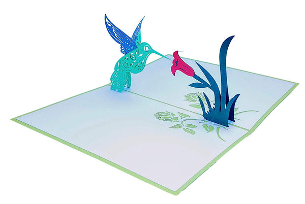 Hummingbird 3D Pop Up Greeting Card 5