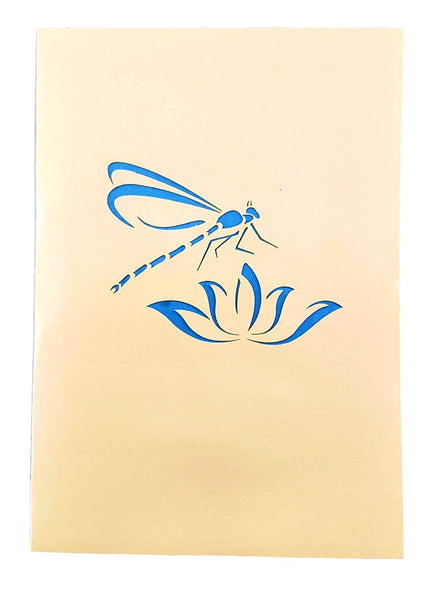 Blue Dragonfly 3D Pop Up Greeting Card 6
