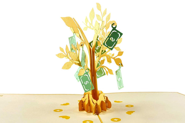 Money Tree 3D Pop Up Greeting Card 2