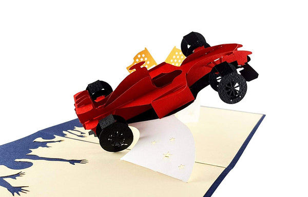 Formula 1 3D Pop Up Greeting Card 2