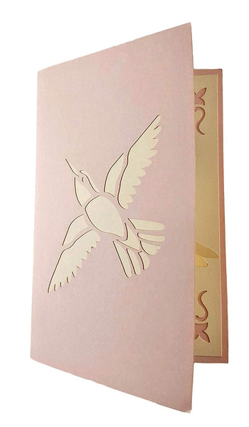 Dove With Olive Branch 3D Pop Up Greeting Card 6