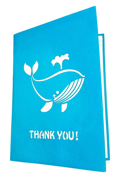 Cute Blue Whale Thank You 3D Pop Up Greeting Card 5