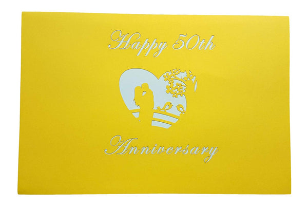 Happy 50th Anniversary 3D Pop Up Greeting Card 8