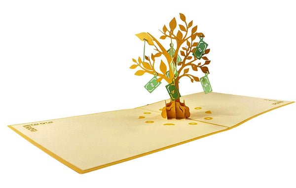 Money Tree 3D Pop Up Greeting Card 6