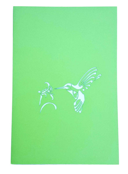 Hummingbird 3D Pop Up Greeting Card 8
