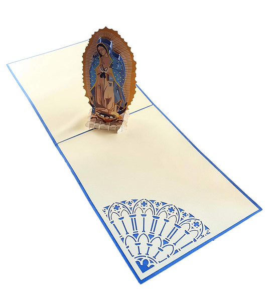 Our Lady Virgen de Guadalupe (Blue Cover) 3D Pop Up Greeting Card 5