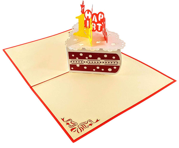 Happy 18th Birthday Cake 3D Pop Up Card 4