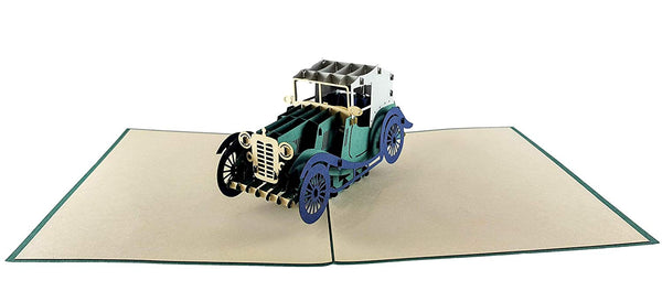 Classic Car 3D Pop Up Greeting Card 6