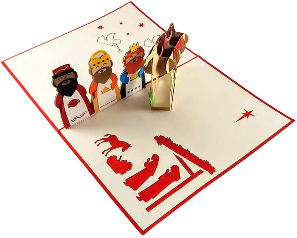 Three Kings 3D Pop Up Greeting Card 4