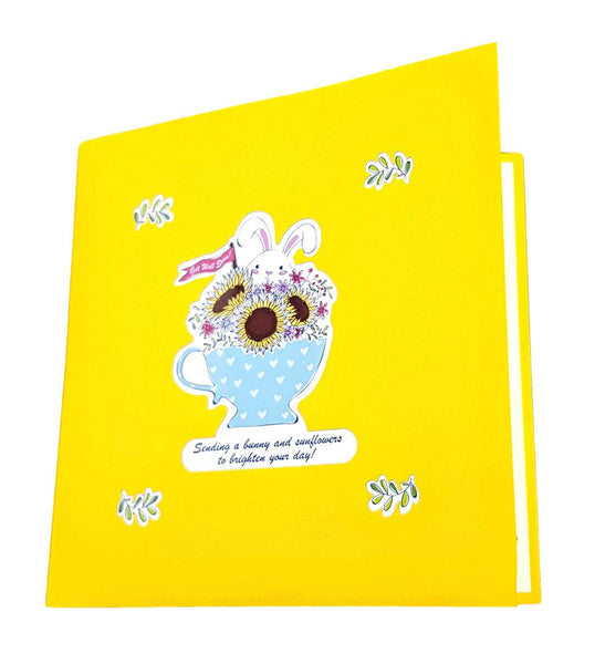 Sunflower Get Well 3D Pop Up Greeting Card 7