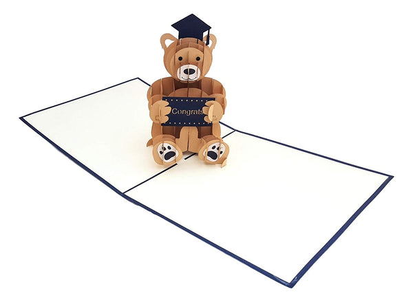 Graduation Bear 3D Pop Up Greeting Card 2