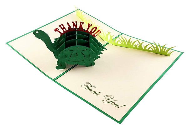 Cute Turtle Thank You 3D Pop Up Greeting Card 4