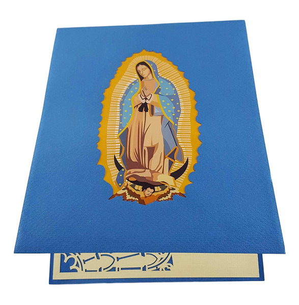 Our Lady Virgen de Guadalupe (Blue Cover) 3D Pop Up Greeting Card 6