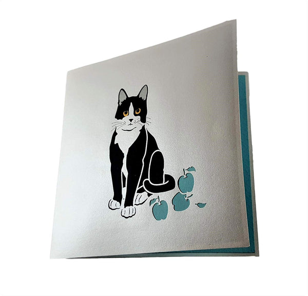 Tuxedo Cat 3D Pop Up Greeting Card 4