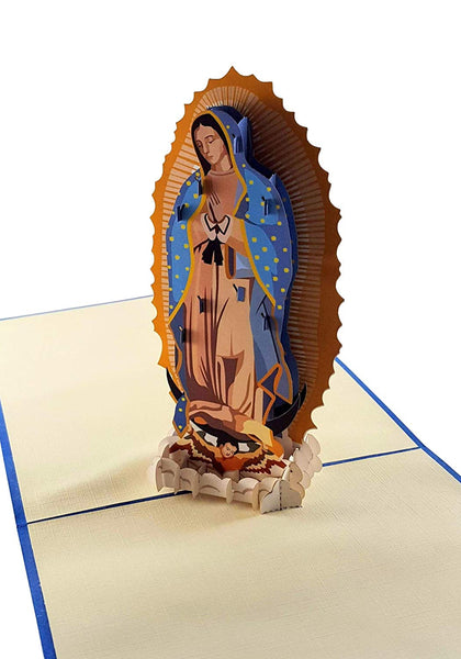 Our Lady Virgen de Guadalupe (Blue Cover) 3D Pop Up Greeting Card 3