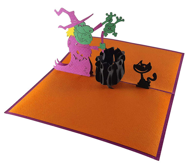 The Witch 3D Pop Up Greeting Card 4