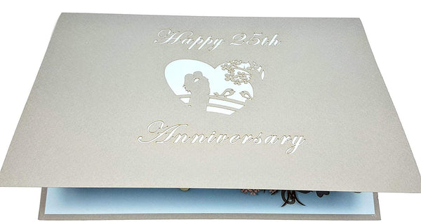Happy 25th Anniversary 3D Pop Up Greeting Card 6