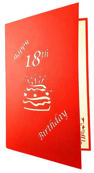 Happy 18th Birthday Cake 3D Pop Up Card 7