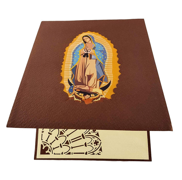 Our Lady Virgen de Guadalupe (Brown Cover) 3D Pop Up Greeting Card 7