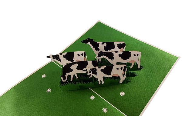 Dairy Cows 3D Pop Up Greeting Card 3