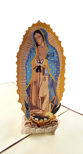 Our Lady Virgen de Guadalupe (Brown Cover) 3D Pop Up Greeting Card 2