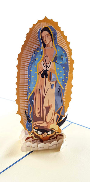 Our Lady Virgen de Guadalupe (Blue Cover) 3D Pop Up Greeting Card 2