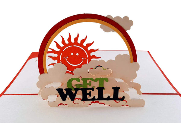 Sunshine Get Well 3D Pop Up Greeting Card 2