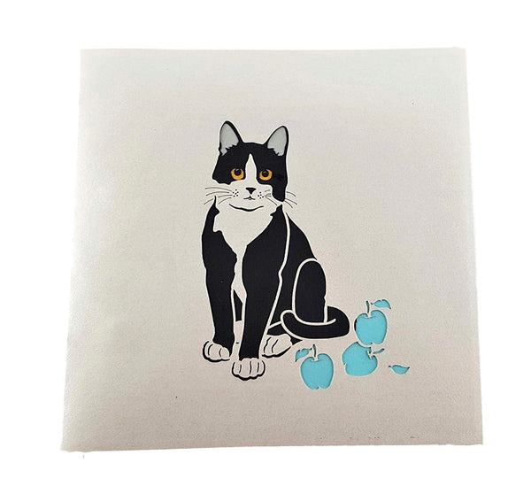 Tuxedo Cat 3D Pop Up Greeting Card 5