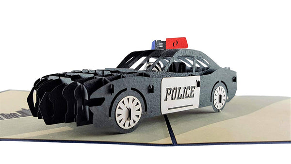 Police Car 3D Pop Up Greeting Card 2