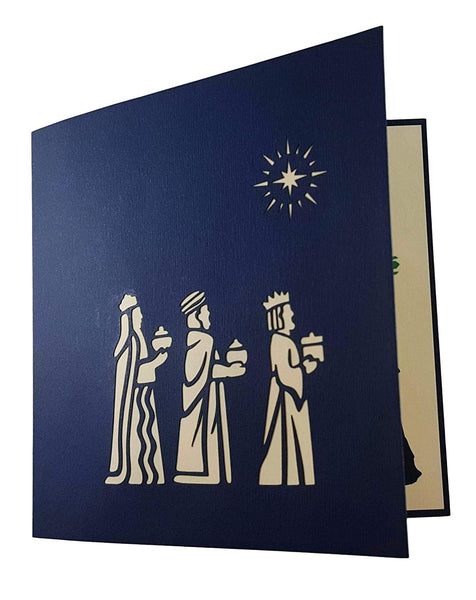 Three Kings Nativity 3D Pop Up Greeting Card 8