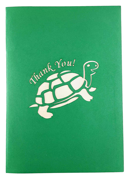 Cute Turtle Thank You 3D Pop Up Greeting Card 7