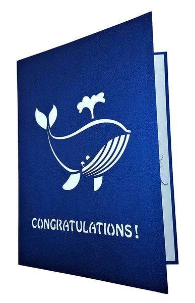 Unique Congratulations Whale (Blue Cover) 3D Pop Up Card 5