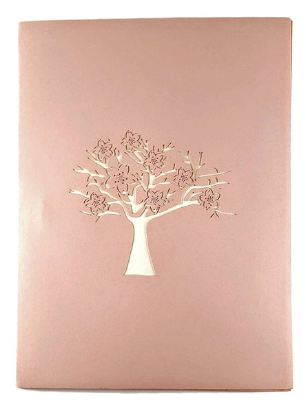 Cherry Blossom (Pink Cover) 3D Pop Up Greeting Card 5