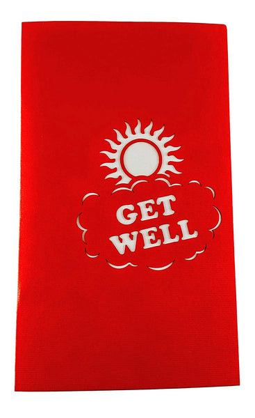 Sunshine Get Well 3D Pop Up Greeting Card 5