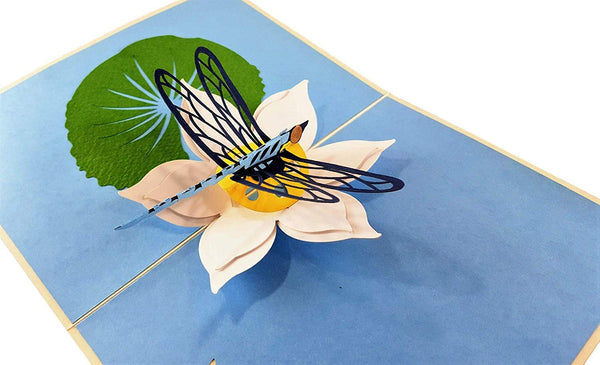 Blue Dragonfly 3D Pop Up Greeting Card 3