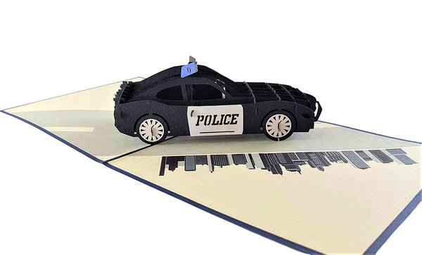 Police Car 3D Pop Up Greeting Card 4
