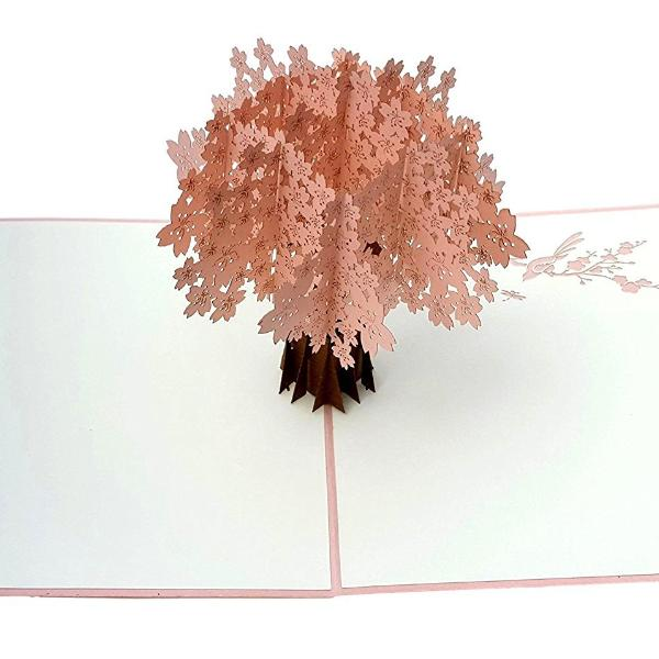 Cherry Blossom (Pink Cover) 3D Pop Up Greeting Card3