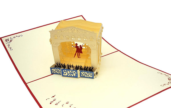 Ballet Dancers 3D Pop Up Greeting Card 3