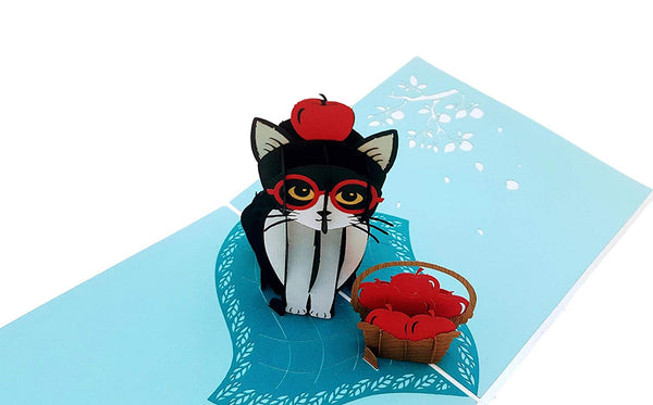 Tuxedo Cat 3D Pop Up Greeting Card 2