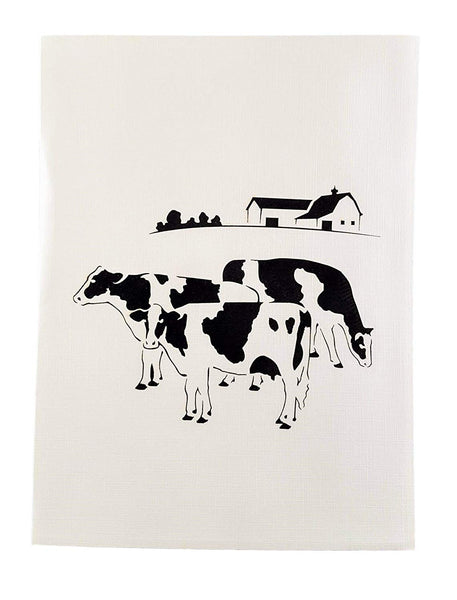 Dairy Cows 3D Pop Up Greeting Card 6