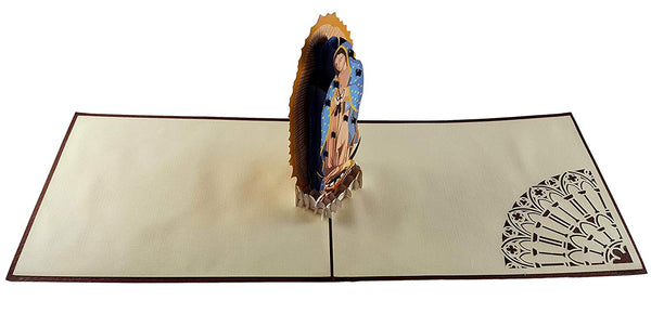Our Lady Virgen de Guadalupe (Brown Cover) 3D Pop Up Greeting Card 5