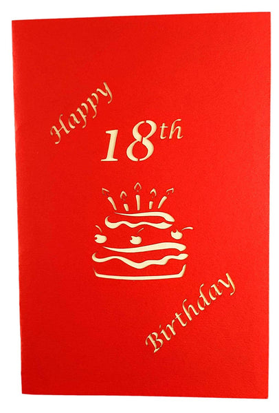 Happy 18th Birthday Cake 3D Pop Up Card 8