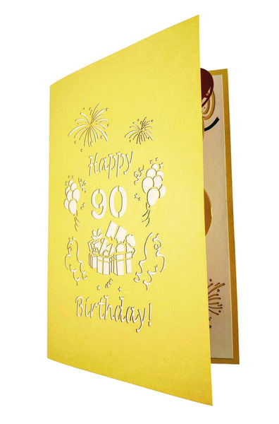 Happy 90th Birthday With Lots of Presents 3D Pop Up Greeting Card 8