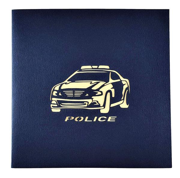 Police Car 3D Pop Up Greeting Card 9