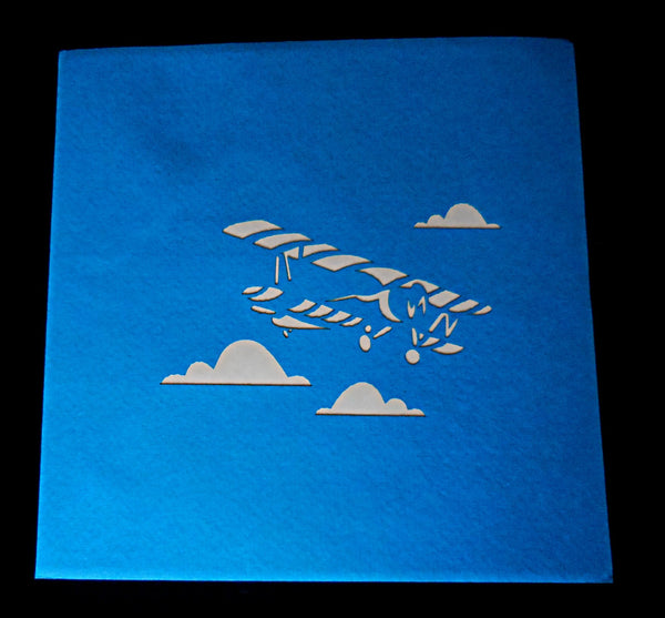 Airplane 76 3D Pop Up Greeint Card 3