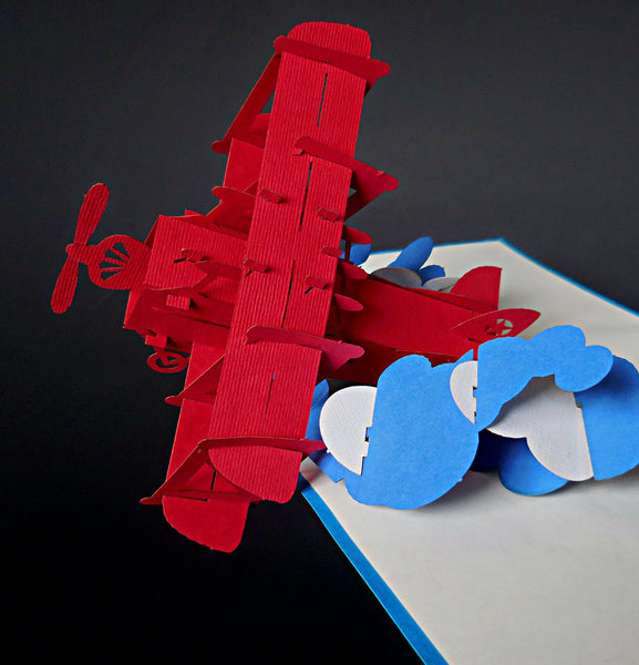 Airplane 76 3D Pop Up Greeint Card 1