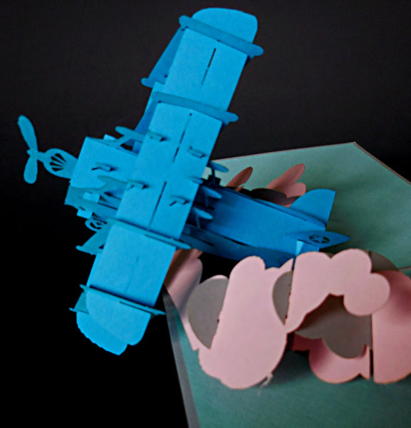 Airplane II 3D Pop Up Greeting Card 1